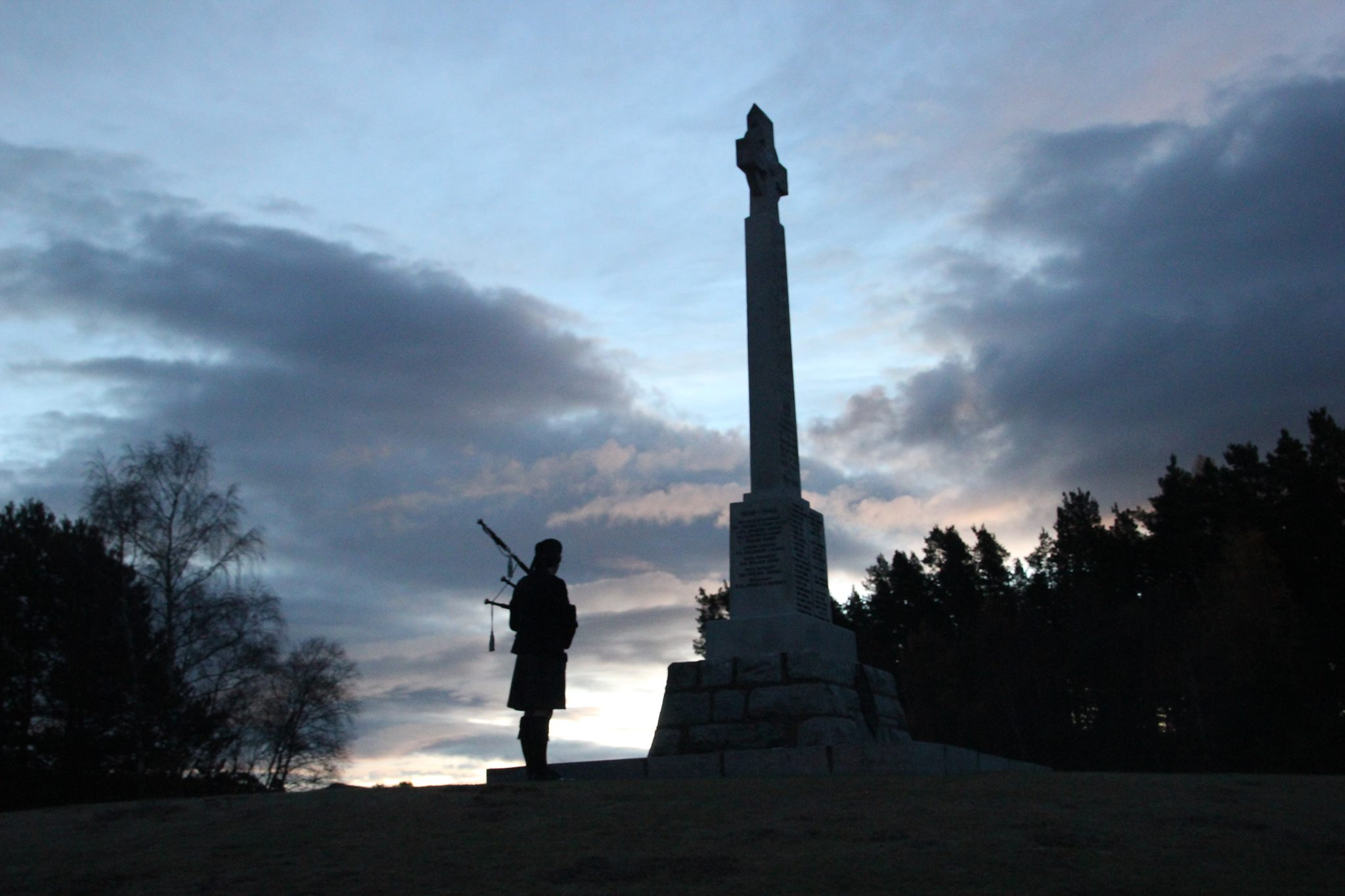 Badenoch And Strathspey Pipe Band At Abernethy War Memorial