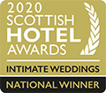 2020 Scottish hotel awards - intimate weddings national winner