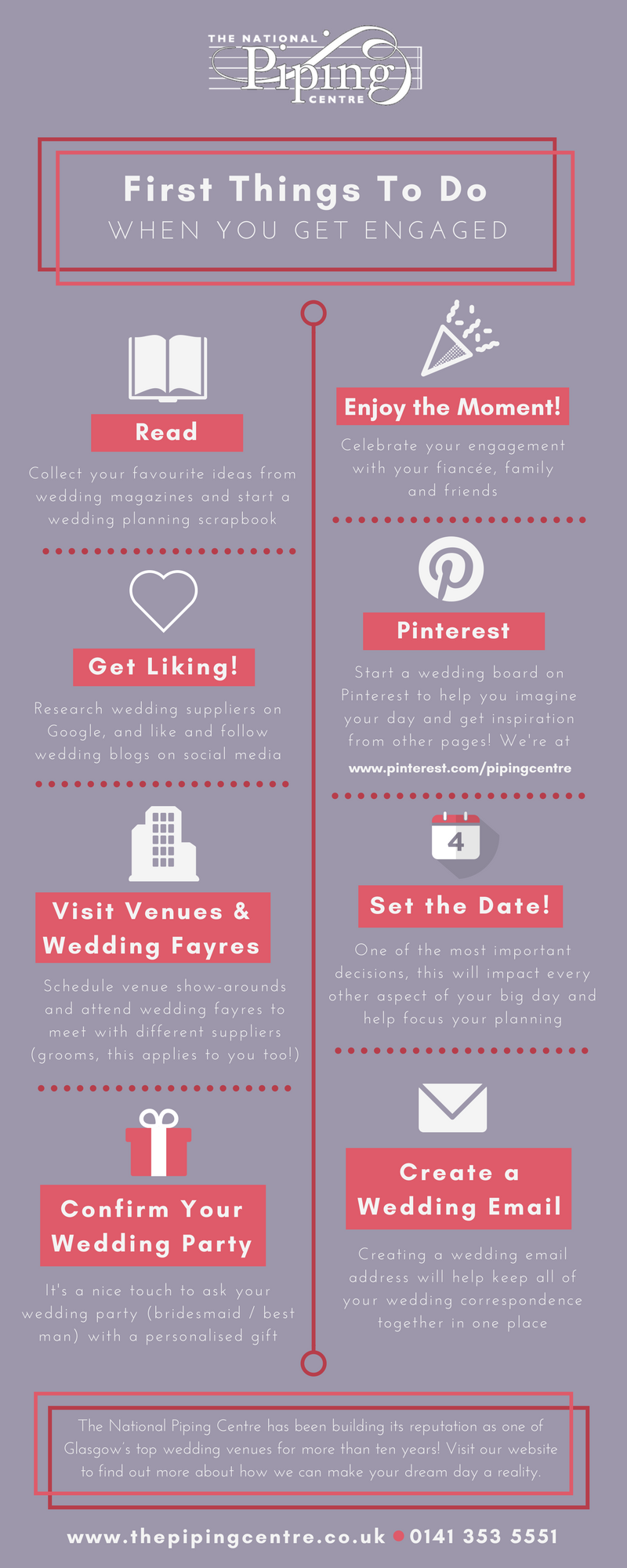 First Things To Do When You Get Engaged - The National Piping Centre